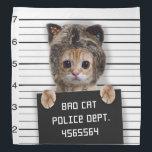 "mugshot cat - crazy cat - kitty - feline bandana<br><div class=""desc"">mugshots , &quot;mug shots&quot; , pet , &quot;prison mugshots &quot;,  &quot;tabby cat&quot; , &quot;cute cats &quot;, &quot;funny cats &quot;, &quot;kitty cat&quot; , &quot;cat love&quot; , &quot;domestic cat &quot;</div>"