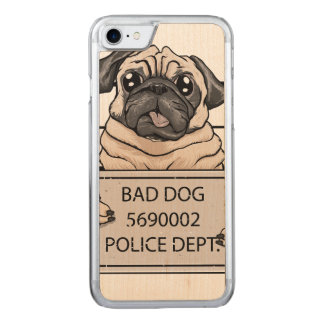 mugshot dog cartoon. carved iPhone 8/7 case