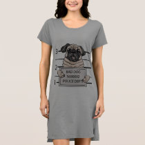 mugshot dog cartoon. dress