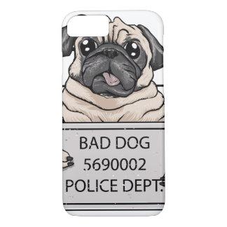 mugshot dog cartoon. iPhone 8/7 case