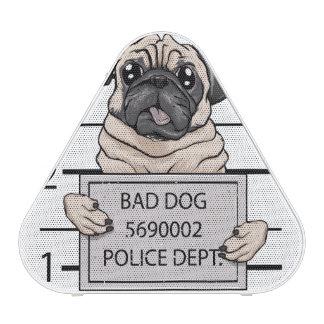 mugshot dog cartoon. speaker