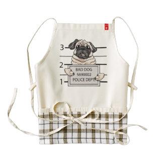 mugshot dog cartoon. zazzle HEART apron