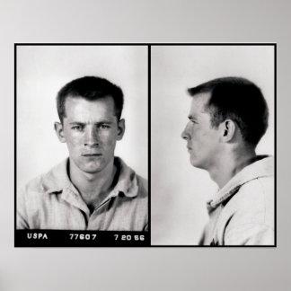 MUGSHOT FEDERAL WHITEY BULGER DE LA PRISIÓN 1956 PÓSTER
