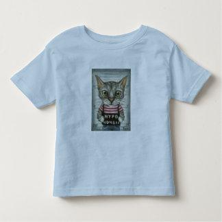 Mugshot of a cat felon toddler t-shirt