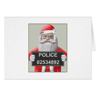 Mugshot - Santa Claus Card