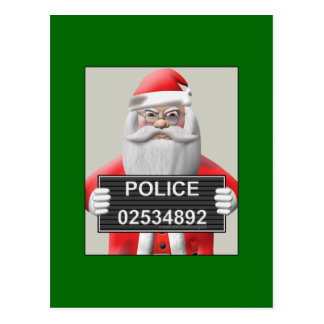 Mugshot - Santa Claus Postcard