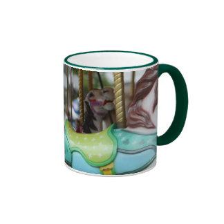 Muh de los caballos del carrusel taza de café