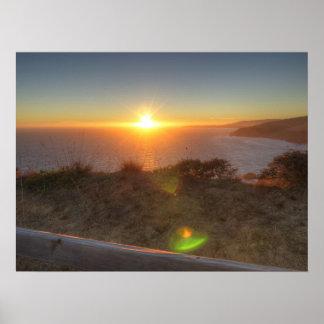 Muir Beach Sunset Poster