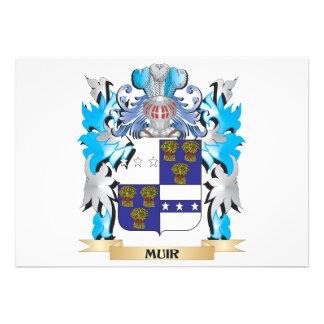 Muir Coat of Arms - Family Crest Invite