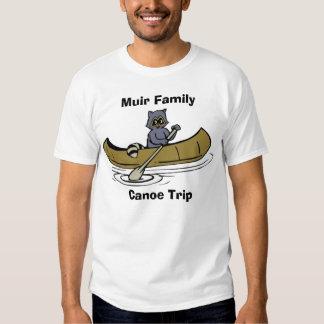 Muir Family Canoe Trip Raccoon T-shirts