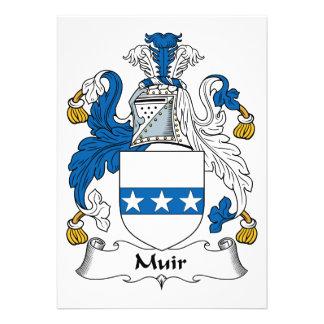 Muir Family Crest Custom Invite