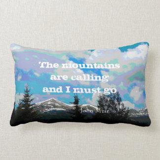 Muir quote throw pillow mountain landscape art