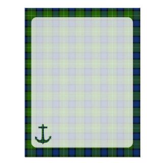 Muir Tartan Plaid Anchor Custom Letterhead