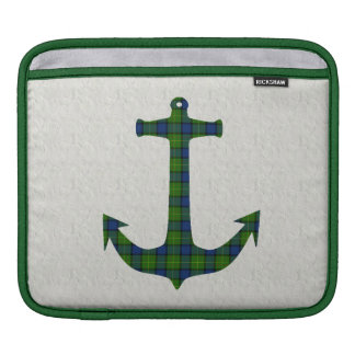 Muir Tartan Plaid Anchor Sleeve For iPads