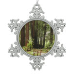 Muir Woods Path I Snowflake Pewter Christmas Ornament