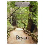 Muir Woods Path II Nature Photography Clipboard