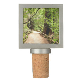 Muir Woods Path II Nature Photography Wine Stopper