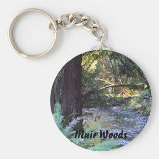 Muir Woods Stream Basic Round Button Keychain