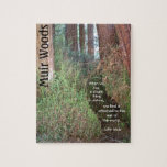 Muir Woods Trees with Quote Jigsaw Puzzle