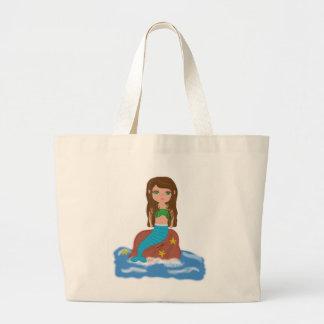 Muirenn el bolso de la playa de la sirena bolsas lienzo