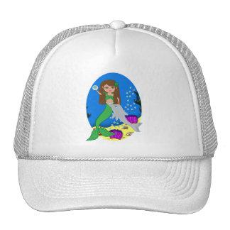 Muirenn the Green Mermaid and Dolphin Hat