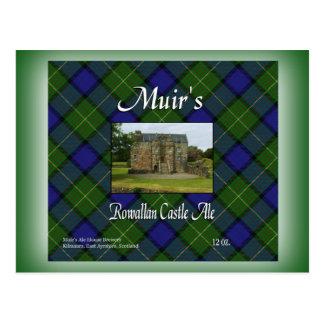 Muir's Rowallan Castle Ale Postcard