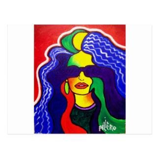 Mujer 10-1 del arco iris por Piliero Tarjetas Postales