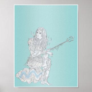 Mujer 11x8.5 de Poseidon Poster