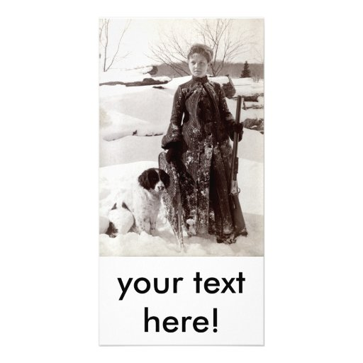 Mujer 1890 y su perro de caza de Bretaña Tarjetas Personales Con Fotos