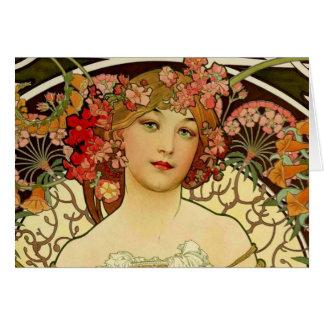Mujer 1897 de Champán - F. Champenois Imprimeur Tarjeta De Felicitación