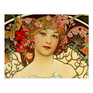 Mujer 1897 de Champán - F. Champenois Imprimeur Tarjetas Postales