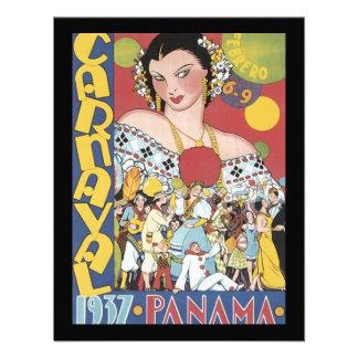 Mujer 1937 de Panamá Carnaval del vintage Invitacion Personalizada