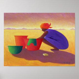 Mujer 1999 de la lavadora póster