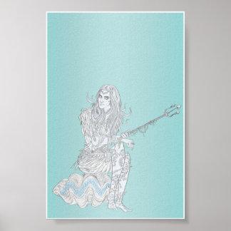 Mujer 4x6 de Poseidon Poster