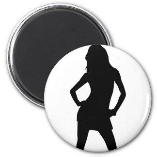Mujer 5 imán redondo 5 cm
