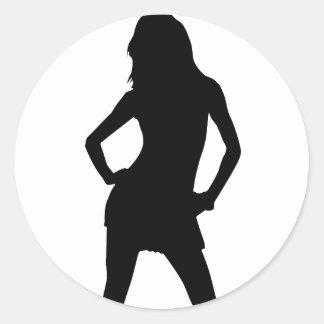 Mujer 5 pegatina redonda