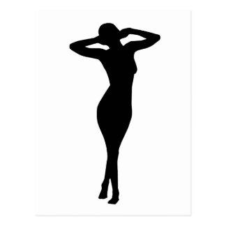 Mujer 6 tarjetas postales