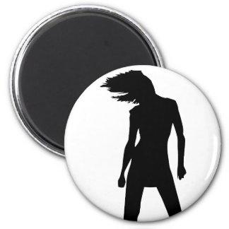 Mujer 8 imán redondo 5 cm