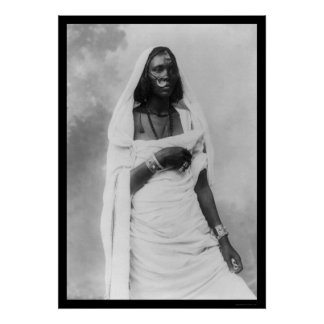 Mujer África 1920 de Nubian Poster