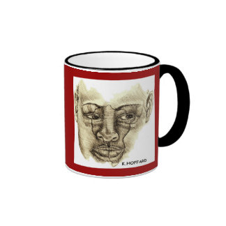 Mujer africana tazas de café