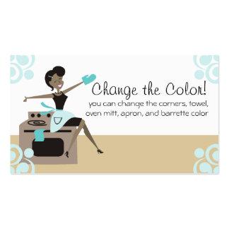 Mujer afroamericana del color de encargo que tarjetas de visita