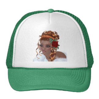 Mujer afroamericana hermosa gorras de camionero