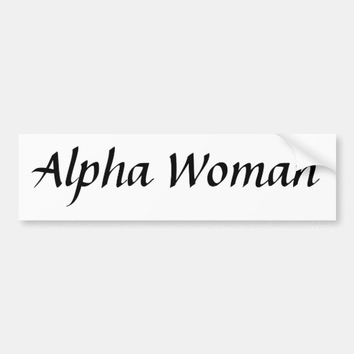 Mujer alfa etiqueta de parachoque