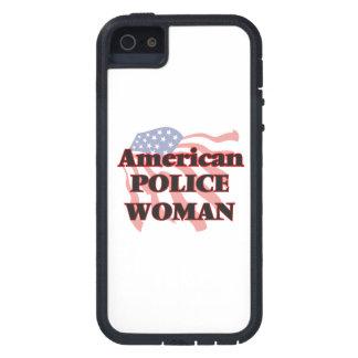 Mujer americana de la policía iPhone 5 funda