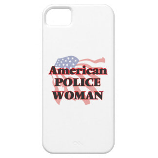 Mujer americana de la policía iPhone 5 carcasas