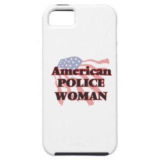 Mujer americana de la policía funda para iPhone 5 tough