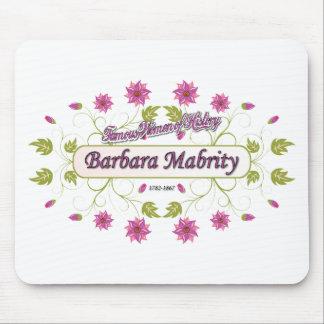 Mujer americana famosa del de Barbara Mabrity de Alfombrillas De Ratones