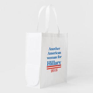 Mujer americana para Hillary Clinton Bolsas Para La Compra