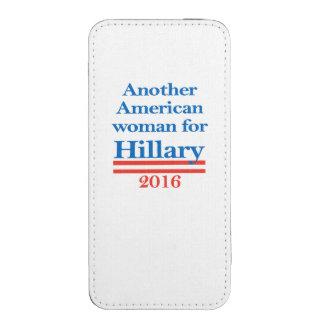 Mujer americana para Hillary Clinton Bolsillo Para iPhone