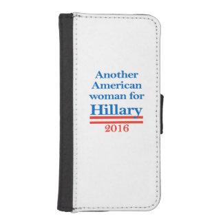 Mujer americana para Hillary Clinton Funda Billetera Para Teléfono